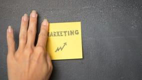 Sticky note on the blackboard vector illustration