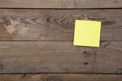 sticky note on the blank blackboard royalty free stock image