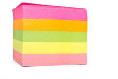 Sticky note block Stock Photos