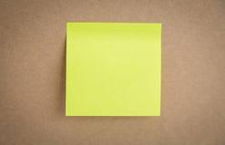 Sticky note on board Stock Image