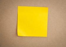 Sticky note on board Stock Photography