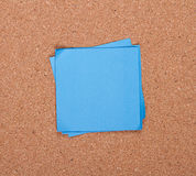 Sticky note on a bulletin board Stock Images