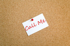 Sticky Note Call Me Concept stock photos