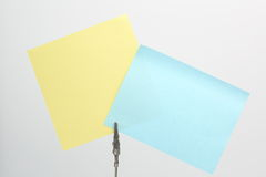 Sticky Note in clipe Royalty Free Stock Image
