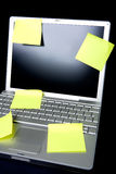 Sticky Note on Computer Stock Image