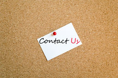 Sticky Note Contact Us Concept Royalty Free Stock Photos