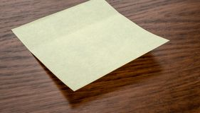 A sticky note with copy space stock image