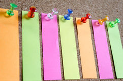 Sticky Note. On Cork Board Background And Place For Text Royalty Free Stock Images