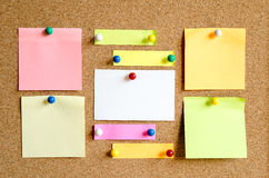 Sticky Note. On Cork Board Background And Place For Text Stock Image