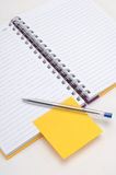 Sticky note and diary Royalty Free Stock Photography