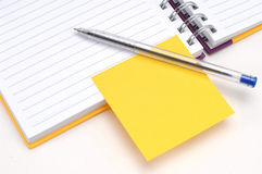 Sticky note and diary Royalty Free Stock Images