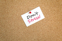 Sticky Note Don't Stress Concept Royalty Free Stock Photo