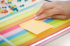 Sticky note with empty space Royalty Free Stock Photography