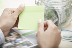 Sticky note with empty space Stock Photos