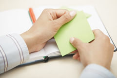 Sticky note with empty space Royalty Free Stock Image