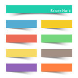 Sticky note with flat color. The Sticky note with flat color Stock Photos
