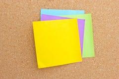 Sticky note. Four color sticky note on board Stock Photos