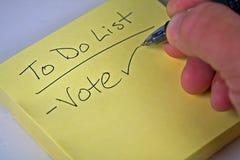 Sticky note list Stock Photo