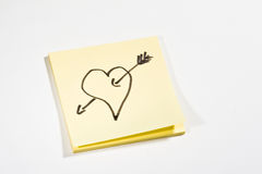 Sticky note LOVE Stock Images