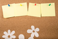 Sticky note memo on board Royalty Free Stock Image