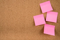 Sticky note memo on board Royalty Free Stock Photos