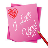 Sticky note with message Stock Images