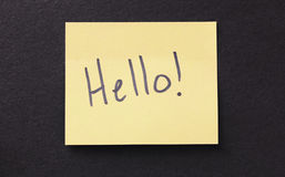 Sticky Note Message Stock Photo