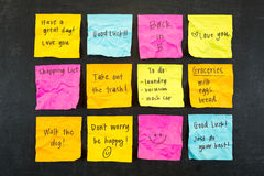 Sticky Note Messages Stock Images