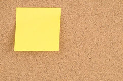 Sticky Note on a Noticeboard Stock Photography