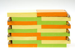 Sticky note pads with penciles Stock Photography