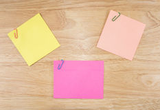 Sticky note and paper clip 16 Stock Images