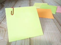 Sticky note and paper clip 10 Stock Photos