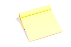 Sticky note paper pad. Isolated on white Royalty Free Stock Photo