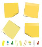 Sticky note paper Stock Image