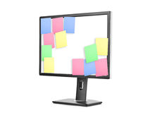 Sticky Note Papers on computer screen Stock Photography