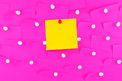 Sticky note on pin Stock Image