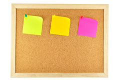 Sticky note pinned Stock Photography