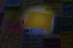 Sticky Note Post It Board Office Royalty Free Stock Images