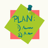 Sticky note or reminder memo pin vector icon Stock Images