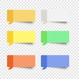 Sticky note set  message box vector post note. Paper dialog remind  sticker yellow paper Royalty Free Stock Images