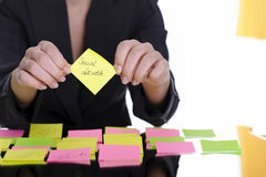 Sticky note social network Stock Images