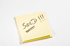 Sticky note SOLD Stock Images