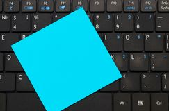 Sticky note with space for your text on the keyboard Stock Images