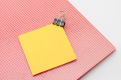 Sticky note with supplies Royalty Free Stock Image