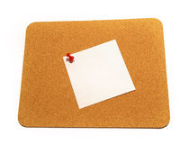 Sticky note with thumbtack Royalty Free Stock Image
