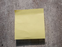 Sticky note on wall Stock Image
