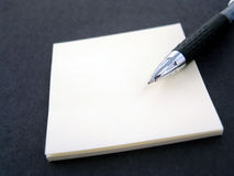 Sticky Note With Pen Royalty Free Stock Photos
