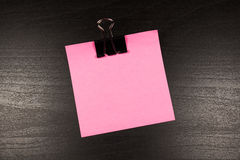 Sticky note on wooden background, empty space for text Royalty Free Stock Photography