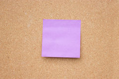 Sticky note. Wooden board with blank sticky note Stock Photos