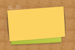 Sticky note yellow and green Stock Photo